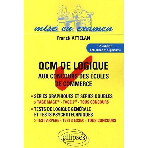 Les qcm de logique aux concours des coles de commerce for Porte logique pdf